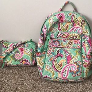 Vera Bradley backpack and matching purse.